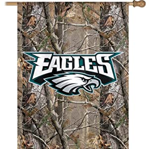 NFL Philadelphia Eagles 27-by-37-Inch Vertical Flag Real Tree