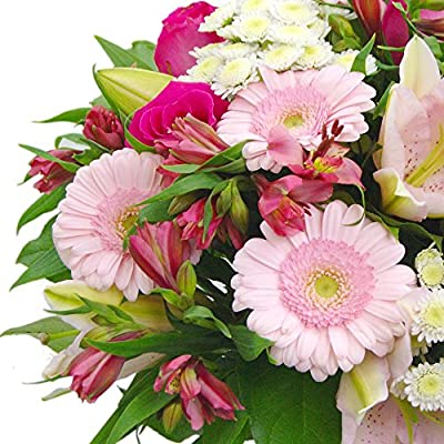 Clare Florist Cottage Garden Fresh Flower Bouquet - Roses, Lilies and Chrysanthemums