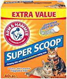 Arm & Hammer Super Scoop Unscented Clumping Cat Litter with Baking Soda, 40 lbs.