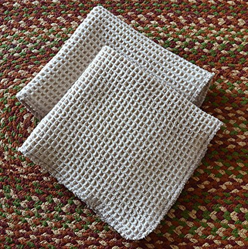 100-organic-cotton-waffle-weave-natural-dish-cloths-set-of-2-12x12-inches