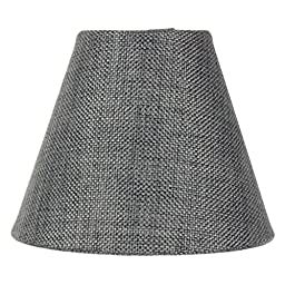 3x5x4 Granite Gray Burlap Lamp Shade - Pleated Clip-on Candelabra Shade