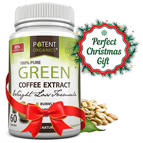 Potent Organics 100% Pure Green Coffee Bean Extract - Standardised to 50% Chlorogenic Acid - High GCA (patented extract). 60 Veg Caps (Coffee Bean Extract Highest Grade compare prices)