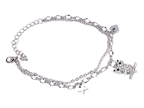 Charms Bracelet India Owl With Charms Bracelet