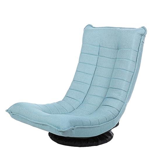 Lazy sofa Tatami pieghevole Schienale reclinabile computer Piccolo appartamento Divano singolo Divani Divani Divano removibile e lavabile , blue