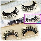 Miss Kiss False Eyelashes Black Long Thick Fake Eyelash For Daily Makeup Eye Lash Cosmetic Lor 10 Charming Cross Reusable Design 100% High Quality Manmade Material Voluminous