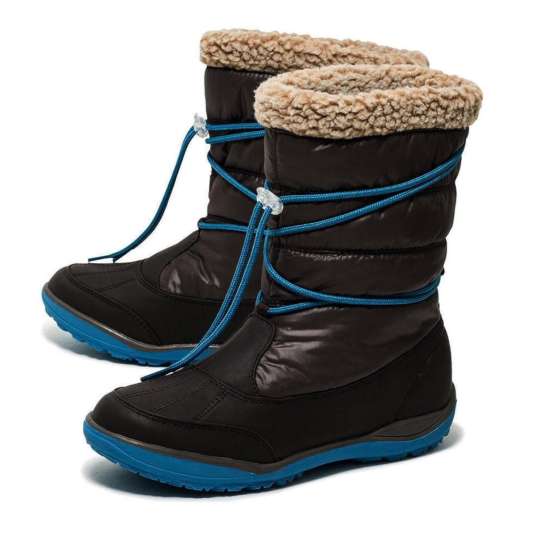 Mädchen Stiefel Schlupfstiefel Schneestiefel Winterstiefel mit MEMBRAN Braun/Petrol jetzt bestellen