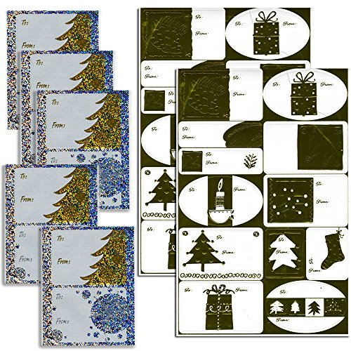gold-and-silver-christmas-holiday-self-stick-gift-tag-stickers-assorted-designs-34-stickers