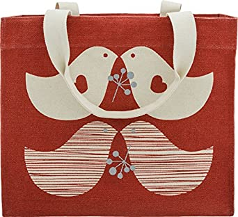 Apple and Bee Canvas Tote Bag