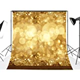 DODOING 10x10FT Christmas Spots Balls Photographic Background Blur Fancy Gold Circle Glitter Bokeh Golden Sparkle Modern Shiny Photo Backdrops for Photography Studio Props 3x3 Meters (Color: Style 4, Tamaño: 10x10FT(3x3M))