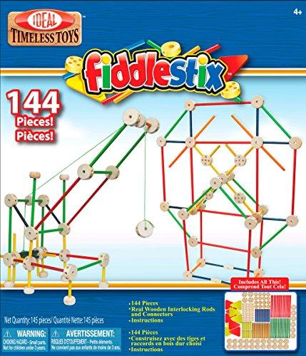 Ideal 144-Piece Fiddlestix Classic Wood Connector Set
