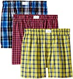 Tommy Hilfiger Men's 3-Pack Woven Boxer,  Multi,  Large