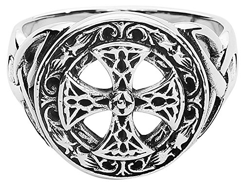 etNox magic and mystic Silver Celtic Cross Anello standard M