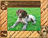 German Shorthaired Pointer - Laser Engraved Dog Frame, Landscape Orientation - 5x7