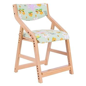 JJZDYZ Silla de madera maciza altura ajustable silla silla de escritorio silla de escritorio de los niños silla de estudio (75.5 * 48cm) Silla plegable ( Color : 8* )