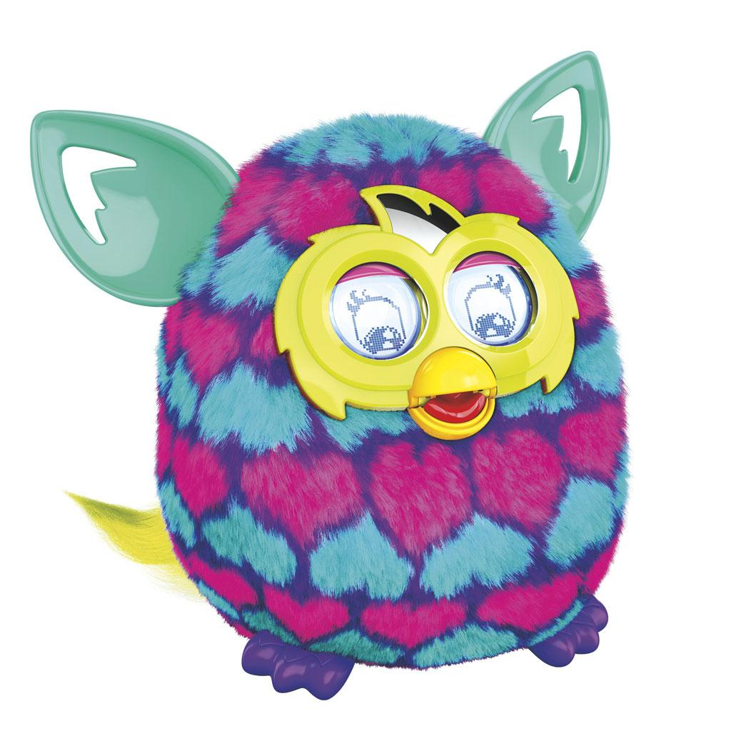 amazoncom furby pink and blue hearts boom plush toy