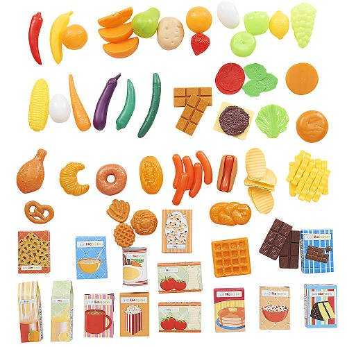 Just Like Home Toy Set : Just like home piece play food set blue toys games
