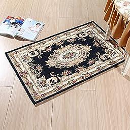 XH@G Floor mat carpet kitchen cushion mat door mats non-slip bath mat , deep blue , 60*90