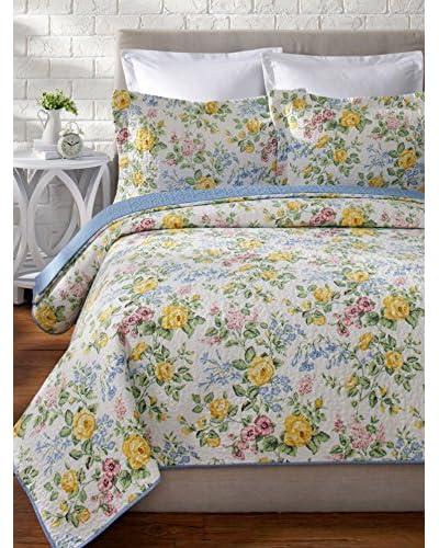 Laura Ashley Callington Floral Quilt Set