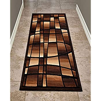 Cosy House Contemporary Runner Rugs for Indoors Hallway, Kitchen, Bathroom | Persian Living Room Home Decor | Resists Stains, Soil, Fading & Freying | Power Loomed in Turkey 2 X 7, Extacy Black