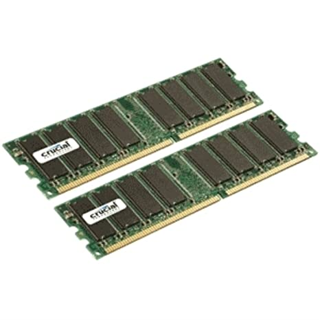 Crucial CL2.5 Mémoire RAM DDR 2 Go (2 x 1 Go) PC2700 333 MHz