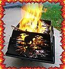 Skull design portable steel Fire ring Pit 'V-Twin USA