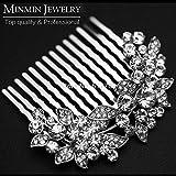 Original Design Leaf Crystal Bridal Hair Combs Hairpin Wedding Hair Accessories Hair Jewelry Imitation Gemstone Jewelry