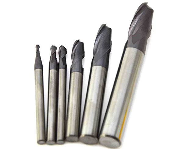 2 Flute 6//8//10MM Cutter Solid Carbide End Mill Ball Nose Tungsten Coated for CNC