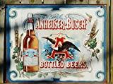 Anheuser Busch - Bottled Beers Metal Tin Sign , 16x12
