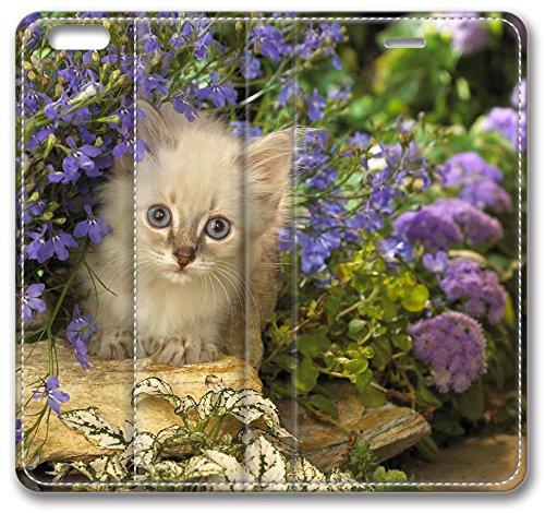 White Kitten 18562 iPhone 6 Wallet Case, Apple iPhone 6 (4.7
