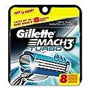 Gillette Mach3 Turbo Cartridges, 8 Count