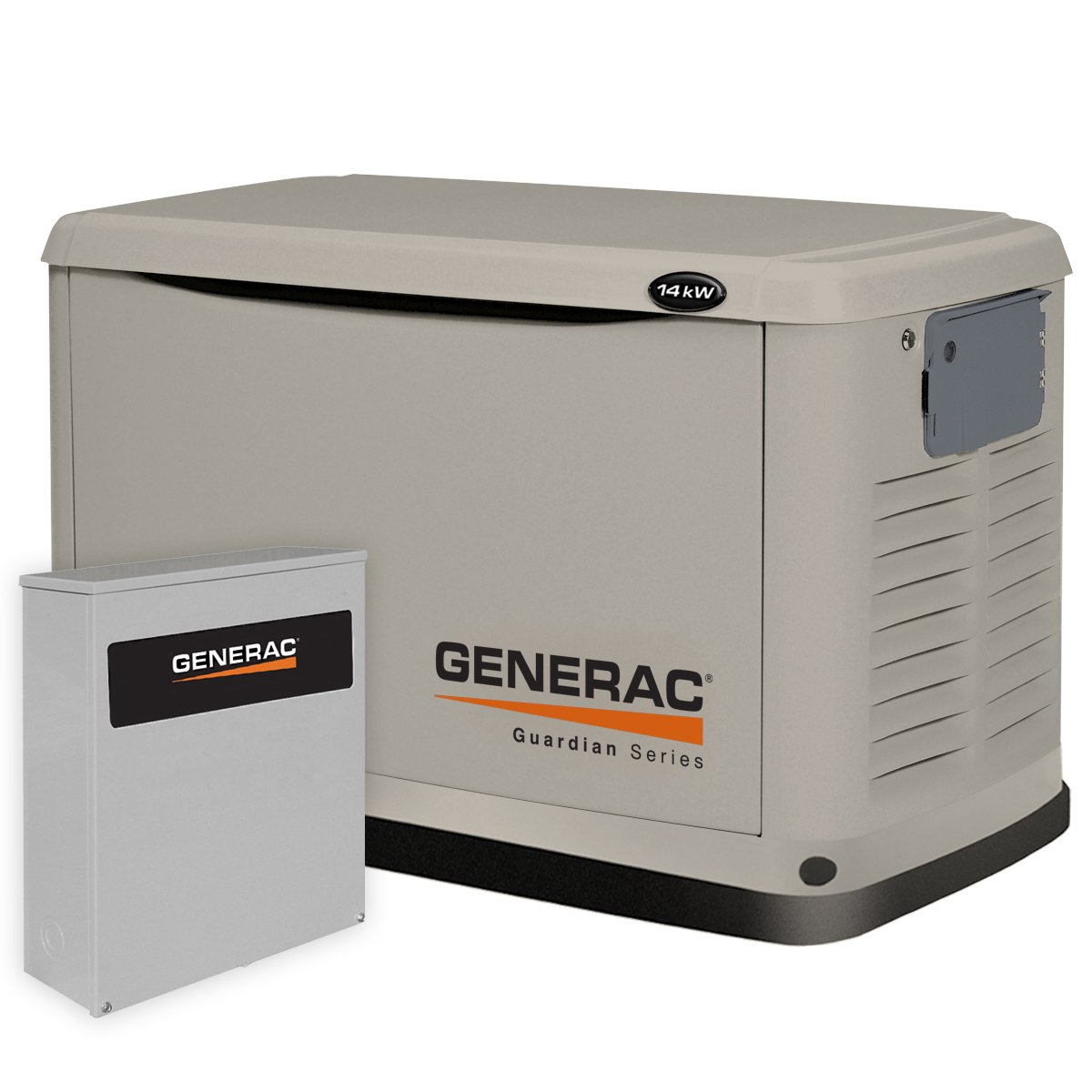 Generac 6241 14,000 Watt Air-Cooled Steel Enclosure Gas Powered Standby Generator with 200-Amp Smart Transfer Switch
