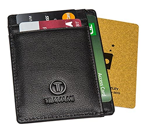 13. Travami Mens RFID Blocking Genuine Leather Super Slim Front Pocket Wallet