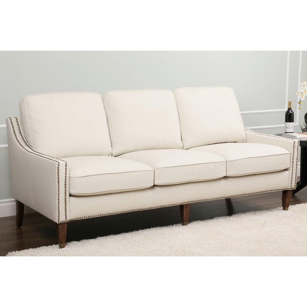 Abbyson Living Monica Pedersen Macie Top Grain Leather Sofa -