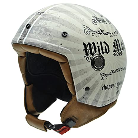 NZI 050260G689 Tonup Graphics Wild Motors, Casque de Moto, Taille L Multicolore