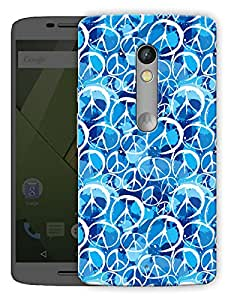 """World Peace In Blue Printed Designer Mobile Back Cover For """"Motorola Moto X Play"""" By Humor Gang (3D, Matte Finish, Premium Quality, Protective Snap On Slim Hard Phone Case, Multi Color)"""