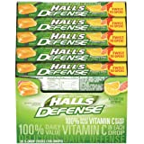 Halls Defense Vitamin C Assorted Citrus, 9 drop packs, (pack of 20)