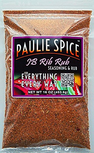 Paulie Spice : Sweet And Smoky Rib Rub And BBQ Seasoning : Amazing On Ribs, Chicken And Pork :16 Oz