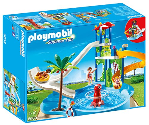 Find Bargain PLAYMOBIL Water Park with Slides Playset