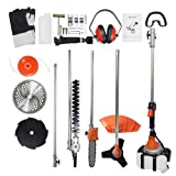 ZXMOTO Multi Brush Cutter 7 in 1 52CC Gasoline Hedge Trimmer Grass Trimmer Cutter Garden Tool