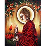 Tallenge - Buddha With Lotus Flower - A3 Size Rolled Poster