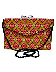 Designer Multi Women Clutch Embroidered Purse Evening Indian Handbag India - B01BDOQ7YE