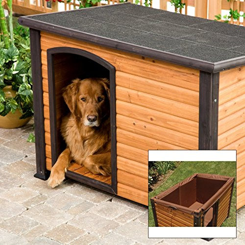 Precision Extreme Outback Log Cabin Dog House And Insulation Kit Package Multicolor - Ppp121 front-1005340
