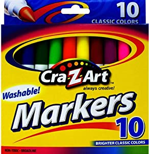 10 count Broadline Washable Brighter colors Markers