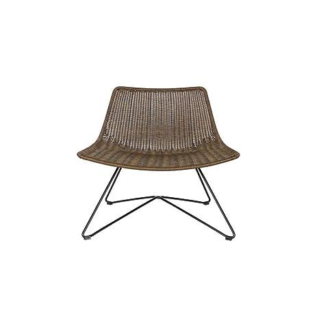 Lounge Sessel OTIS Kunstrattan braun Longesessel Esszimmerstuhl Loungestuhl
