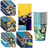 Toy Story Game Time Deluxe Party Supplies Pack Including Plates, Cups, Tablecover and Napkins - 8 Guests