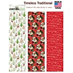 Premium Christmas Gift Wrap Timeless Traditional HEAVEY WEIGHT THICK Wrapping Paper for Men, Women, Boys, Girls, 3 Different 15 Ft X 40 in Rolls Included Xmas Trees, Reindeer, Santa, Christmas Wishes
