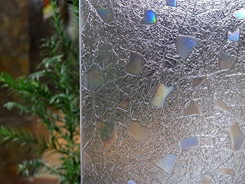 Bloss 3D Static Cling Window Film Stained Glass Window Film Decorative Frosted Window Clings Vinyl Window Covering 17.7Inch x 78.7Inch 1 Roll (Frosted Glass Panel Door compare prices)