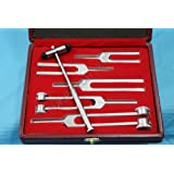 Tuning Fork Set of 6 - Medical Surgical Diagnostic instruments+ FREE BUCK HAMMER+BEAUTIFUL BOX