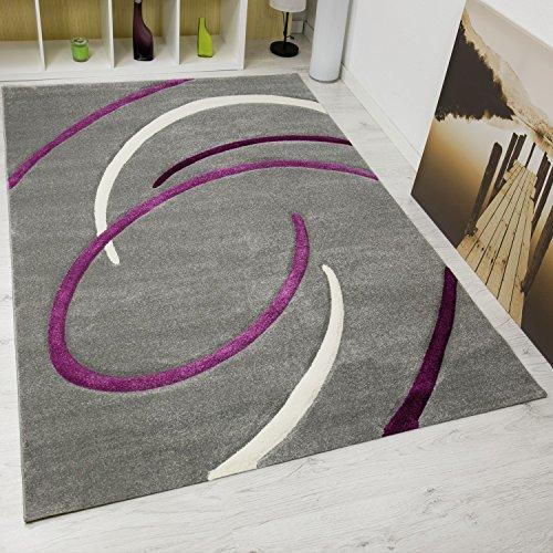 VIMODA-infinity6296-mderner-Designer-Teppich-Kreisel-handgeschnittene-Konturen-kotex-Zertifiziert-Pflegeleicht