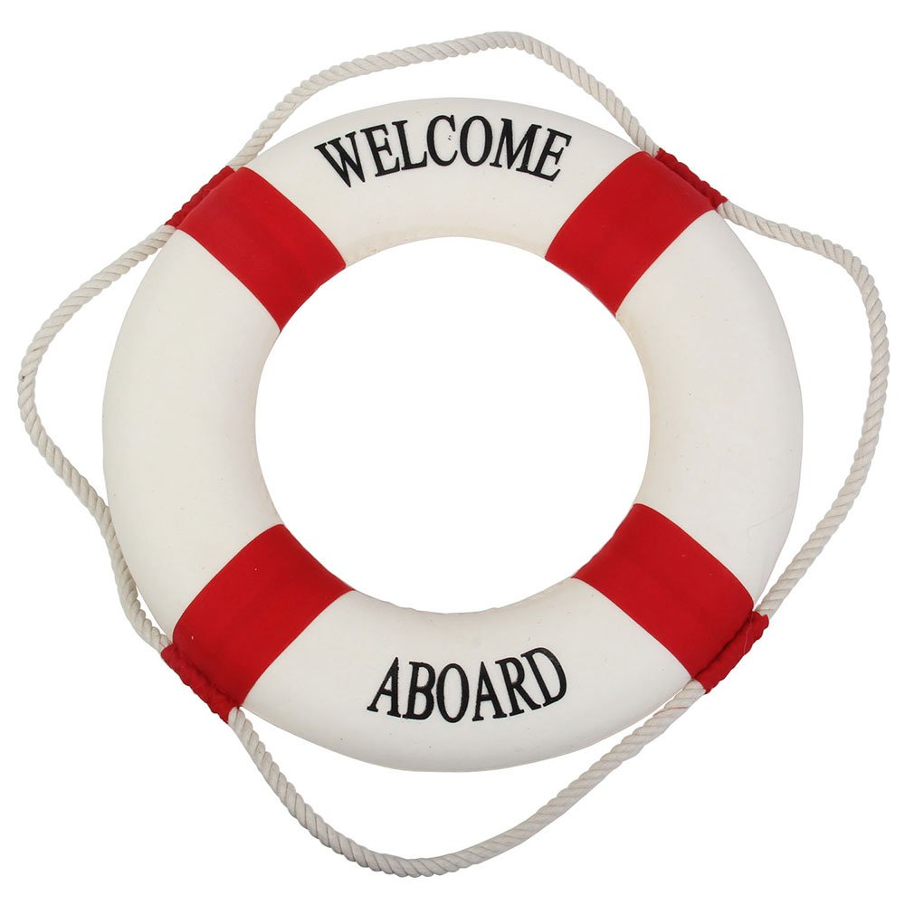 Welcome aboard boat ships life ring clock - Nautical Ring Decorative Life Ring For Nautical Lovers